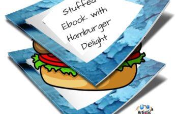 Stuffed Ebook with Hamburger Delight