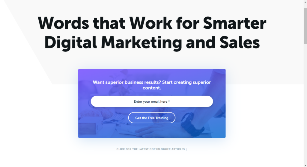 Add an Easy Bold Call to Action on Your Homepage 2