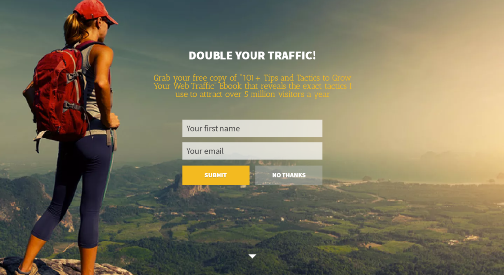 Add an Easy Bold Call to Action on Your Homepage